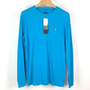 SOUTHPOLE Mens Blue Thermal Shirt Long Sleeve 1101